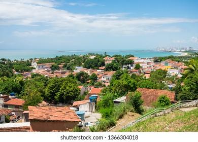 A view of Olinda's historic center from the top of Alto da Se hill - Pernambuco, Brazil