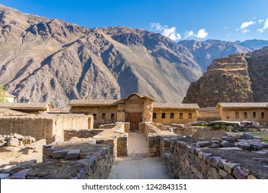 View of Ollantaytambo Ruins in Sacred Valley of Peru