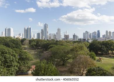 "View of ""Omar Park"", Panama City"