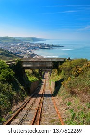 View on Aberystwyth from cliff railway