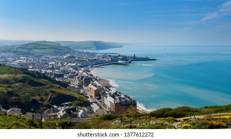 View on Aberystwyth from top hill