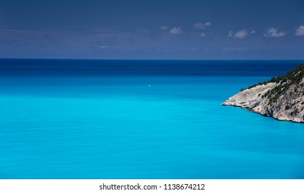 view on the adriatic sea in Kefalonia island