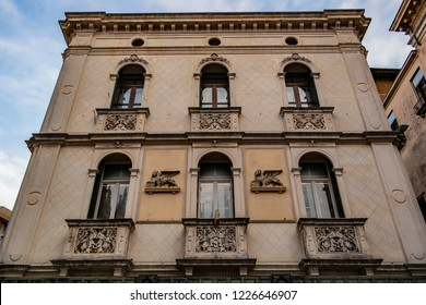 View on an ancient palace in Padua, Veneto - Italy