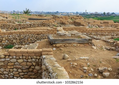 View on ancient ruins of Beer Sheba