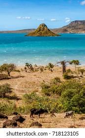View on Antsiranana bay (Diego Suarez), northern Madagascar