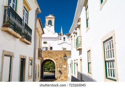 view on architecture on old town in Faro, Algarve, Portugal