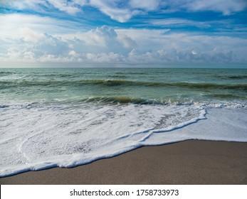 View on Atlantic ocean in South Carolina.