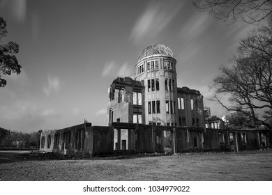 View on the atomic bomb dome in Hiroshima Japan. World Heritage Site