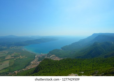view on Azmak Stream in Akyaka Village. Akyaka is popular tourist destination in Turkey. Marmaris/Mugla Turkey