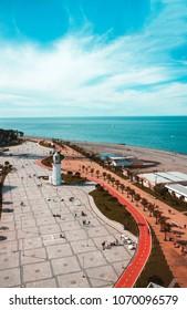 View on Batumi boulevard from the port. Georgia
