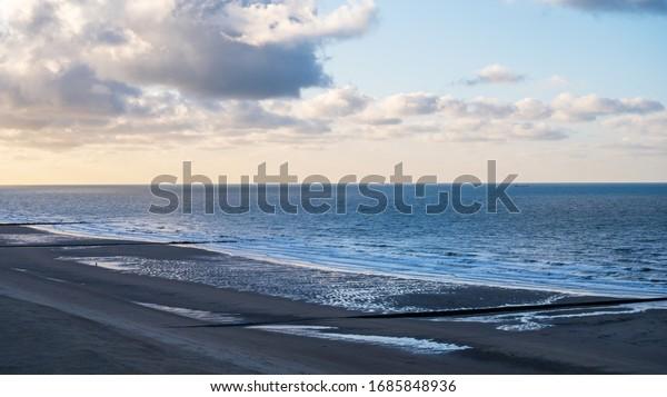 view on the beach in Middelkerke Belgium