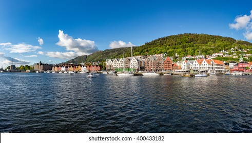 View on Bergen Norway panorama