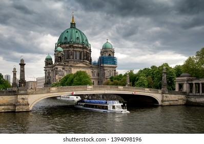 View on Berlin Cathedral or Berliner Dom and Spree River. Berlin, Germany, Europe