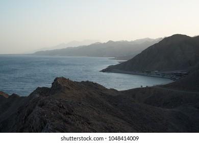 View on Blue Hole beach near Dahab, Egypt, South Sinai