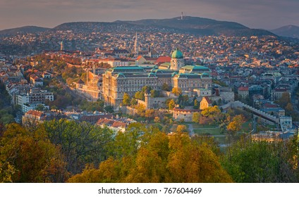 View on Budapest in autumn
