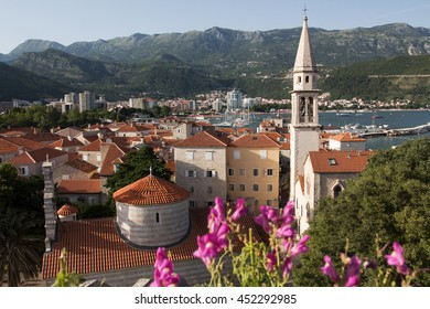 View on Budva old town from the Citadel