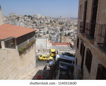 View on buildings on the hills of Bethlehem in Occupied Territories - West Bank