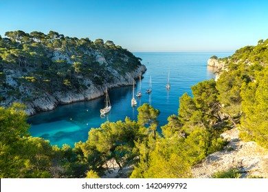View on Calanque of Port Pin in Cassis , France.