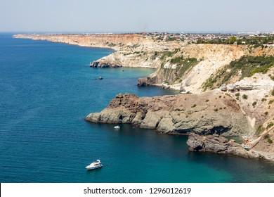 The view on Cape Fiolent in Sevastopol, Crimea