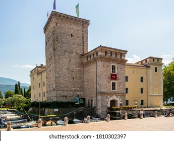 View on the castle of Riva del Garda. August 13, 2020 Riva del Garda - Trentino Alto Adige, Italy
