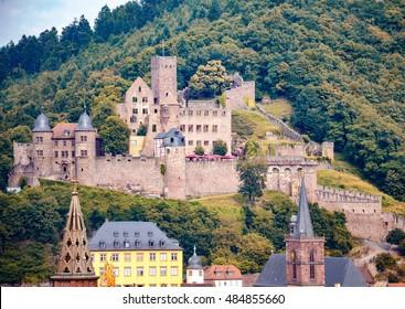View on castle in Wertheim, Germany