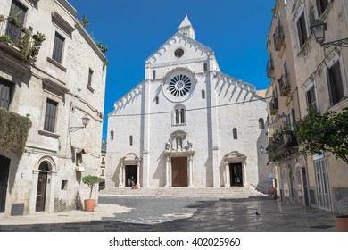 View on the center of Bari, Italy and Bari Cathedral square