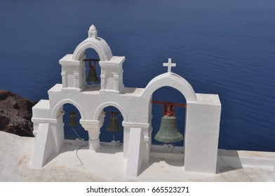 View on church bells in Oia