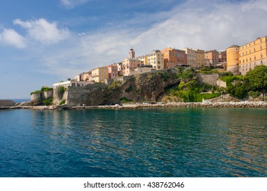 View on the citadel of Bastia in Corsica, France