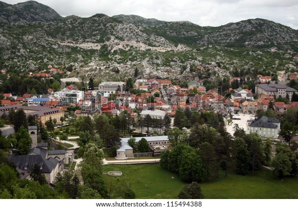 View on the city Cetinje, Montenegro