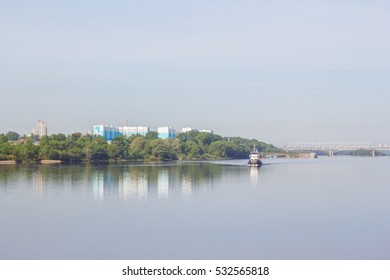 The view on the city of Kolomna  from the river Oka, Russia