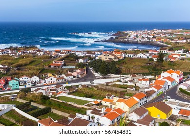 View on city Mosterios on island Sao Miguel, the Azores