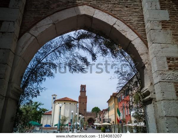 View on the city of Noale, province of Venice. 3 June 2018 Noale, Veneto - Venice