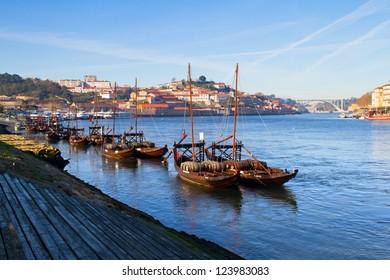 view on city Porto and river Douro