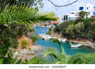 view on the city of Sisi on the mediterranean island Crete in Greece from the palm bay of Sisi