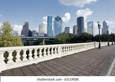 View on City Skyline, Houston, Texas