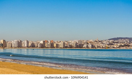 View on the city of Tangier in the strait of Gibraltar, north of Morocco