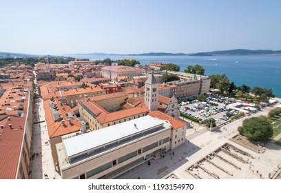 View on a city of Zadar, Croatia shot from the elevated position
