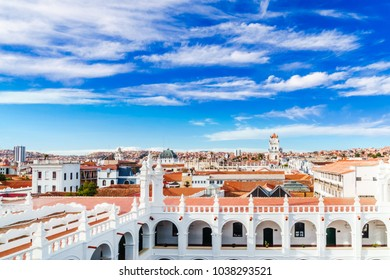 View on cityscape of Sucre in Bolivia