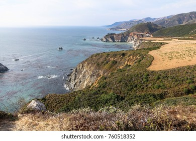 View on the coastal highway and sea in california