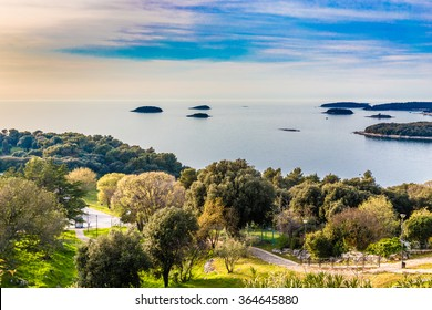 View On Coastline And Small Islands Near Vrsar - Vrsar, Istria, Croatia, Europe