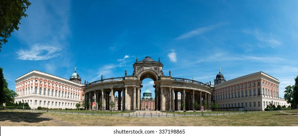 View on the Communs, the part of University of Potsdam in Sanssouci park in Potsdam, Germany