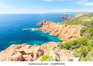 view on cote d'azur near Fréjus , french riviera , France