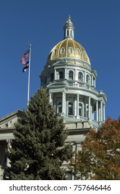 View on Denver Colorado Capitol close up,United States of America.