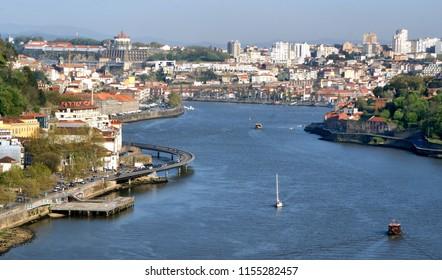 View on Douro River in Porto, PortugalView on Douro River in Porto, Portugal