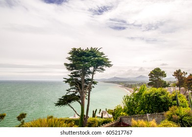View on Dublin coast by Killiney in Ireland