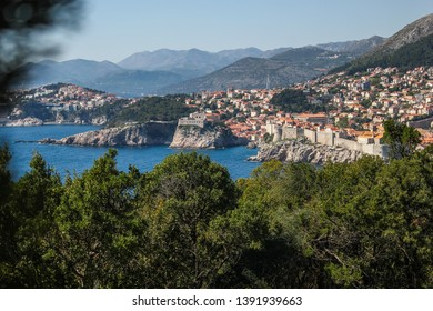View on Dubrovnik from the Island of Lokrum, Croatia.