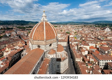 View on Duomo in Florence from Giotto's Campanile, Italy