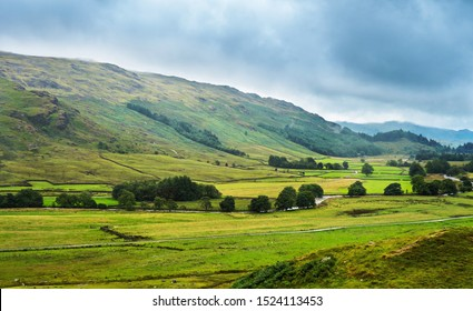 View on a Eskdale mountain valley near Hardknot Pass in the Lake District National Park; Cumbria; England.