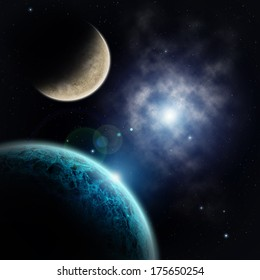 View on extrasolar planets and star dust in deep space
