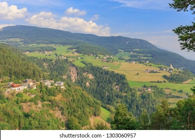 View on the famous Earth Pyramids in Ritten near Bozen South Tyrol